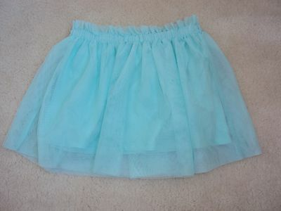 Girls Light Green / Blue Net Skirt Size 6 years from Zara
