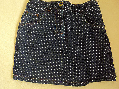 Girls Demin Skirt with white polka dots from Next  size 7 years
