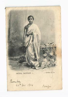 c1905 PPC Hindu Woman Clifton & Co