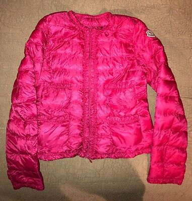STUNNING MONCLER BRIGHT PINK  JACKET For 12 Year Old Girl