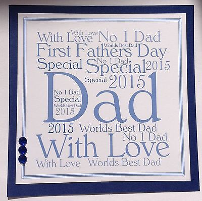 Personalised Handmade Fathers Day Card