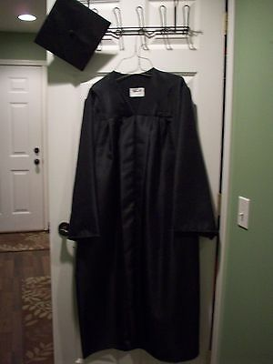 Graduation Cap and Gown, Black
