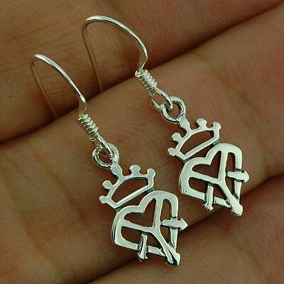 Exquiste Sterling Silver 925 Luckenbooth Celtic Crown Sterling Silver Earrings