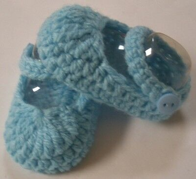 Blue Mary Jane strap booties/shoes/slippers - Dolls Clothes for Baby Born