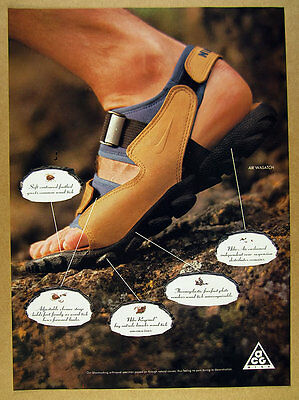 1994 Nike AIR WASATCH Sandals color photo vintage print Ad