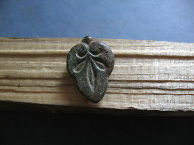 Leaf Shaped Stylized Vagina  Ancient Celtic Bronze Fertility Amulet 600-400 Bc