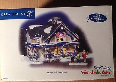 Dept 56 Snow Village Series - The Jingle Bells House - RARE - New - Still Sealed