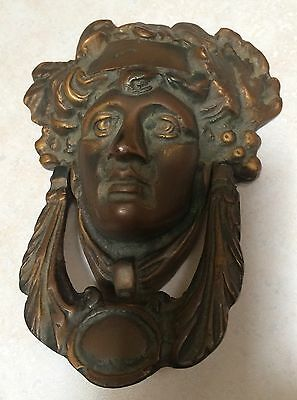 Antique Bronze /Brass Lady's Face Door Knocker