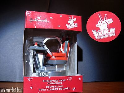 New, The Voice tv show Christmas tree ornament chair