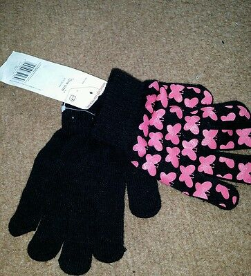 Girls butterfly gloves, BNWT, one size.