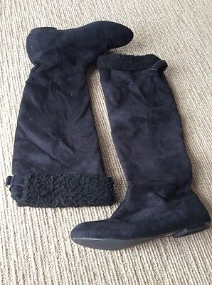 Size 5 Black Boots By InNIU. GUC
