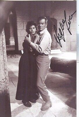 Sophia Loren & John Wayne  in  Legend of the Lost----2 Hand Signed Photos