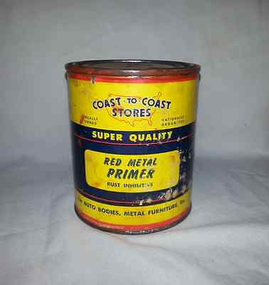 Vintage Coast to Coast Paint-Red Metal Primer-1 Pint Can