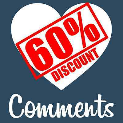 100 Instagram Comments - Custom Photo Comments - Cheapest on eBay- 100% SAFE