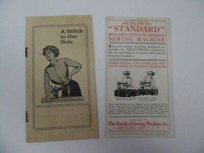 1911 Standard Rotary Central Needle Sewing Machine Co. Brochure Lot Ergonomic
