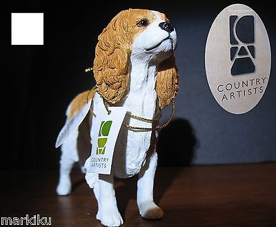Cavalier King Charles Spaniel dog Figurine CA06295 Country Artists, tan & white