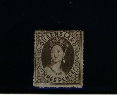 QLD Australia State Stamp - MINT 3d perforated Chalon Head