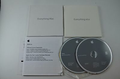Apple Mac OS X 10.5.2 Leopard . COMPLETE with Install Discs, Case & Instructions