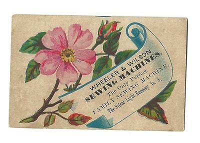 Old Trade Card Wheeler & Wilson Sewing Machines Silent Light Running 8 Reading
