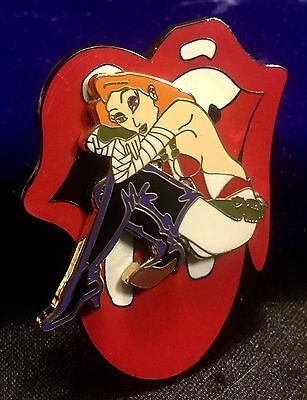 ROLLING STONES  TONGUE pin  VINTAGE Jessica rabbit spinning spin