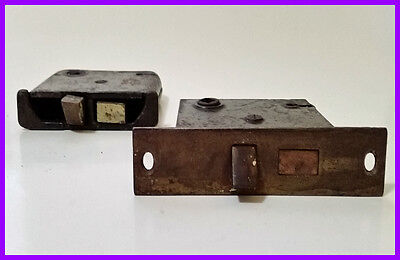 cast iron Vintage Door locks (2)Mortise  from a 1860 virginia home