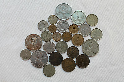 Large Lot of Russia(Soviet Union)coins,1931-87(total 25), rare, good condition