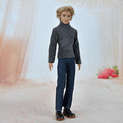 Handmade Doll Clothes Casual Wear Jacket Pants Outfit For Barbie Ken Dolls S
