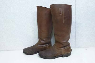 AUTHENTIC WW2 JAPANESE ARMY IJA OFFICER LEATHER BOOTS  with   PRODUCTIONMARK