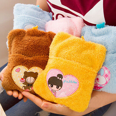 Cute Baby Winter Warm Hot Water Bottle Bag Relaxing Heat With Soft Cover Case