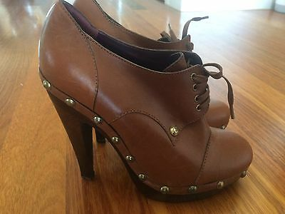 New Max Mara Leather Boots Booties 40 9.5 10 $850