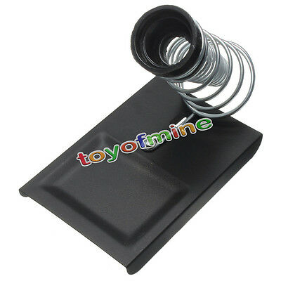 Soldering Solder Iron Metal Rectangle Stand Spring Holder Cast Steel Base