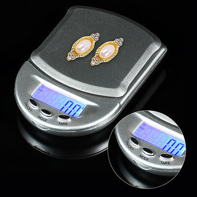 Mini Electronic Pocket Weight LCD Gram Digital Jewellery Scale 500g x 0.1g
