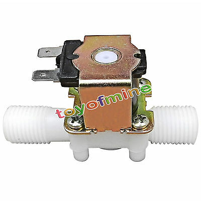 DC 12V Electric Solenoid Valve Magnetic N/C Water Air Inlet Flow Switch 1/2""