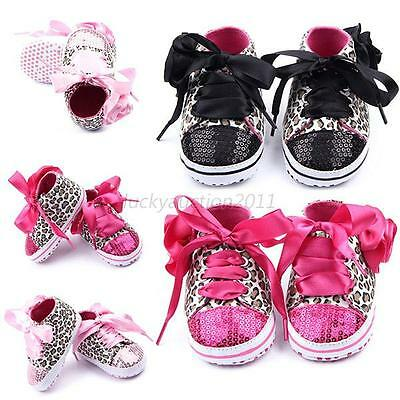 Lovely Sneakers Newborn Baby Girl Boy Crib Shoes Infant Toddler Soft Sole Boots