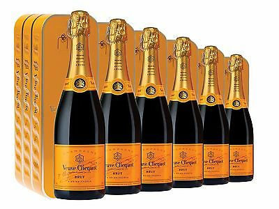 Veuve Clicquot Yellow Label Brut NV Sardine Gift Tin 6 PACK