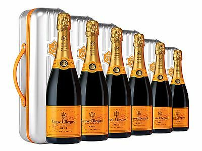 Veuve Clicquot Yellow Label Brut NV Suitcase Champagne 6 PACK