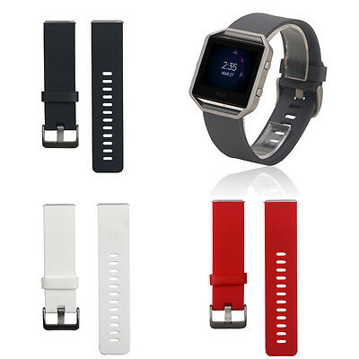 For Fitbit Blaze Smart Watch Strap Quick Release Wrist Band Silver Metal Frame