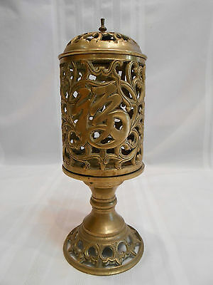 Lg Chinese Buddhism Temple Brass Mosaic Incense Burner Censer Characters/symbols