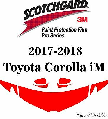3M Scotchgard Paint Protection Film Pro Series Clear 2017 2018 Toyota Corolla iM