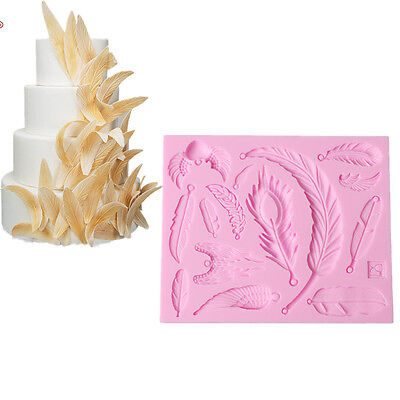 Feather Wings Silicone Fondant Sugarcraft Cake Mould Chocolate Candy Baking Tool