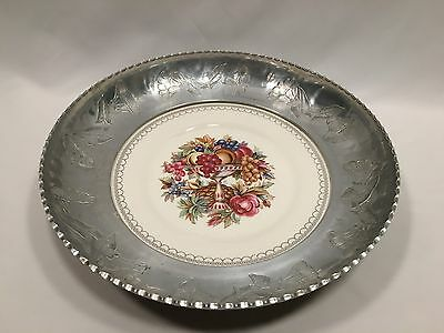 American Limoges Imperial Victorian Aluminum Luncheon Bowl Farberware 13 1/4″