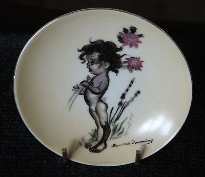 Brownie Downing Signed Wall Plate Aboriginal Girl With Waratah Reg Des 35059 #10