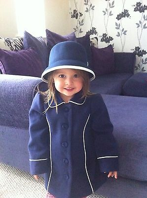 girls little bird coat and hat in size 2-3 years