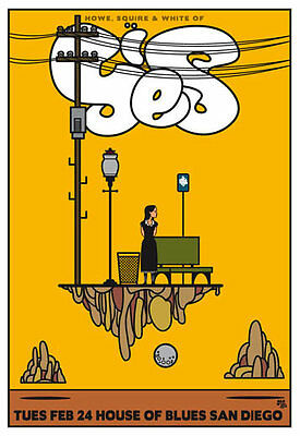 Scrojo Yes Howe Squire and White 2009 Poster House of Blues San Diego Yes_0902
