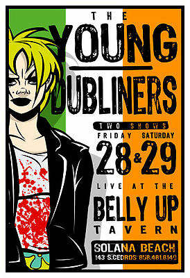 Scrojo Young Dubliners 2003 Poster Belly Up Tavern YoungDubliners_0303