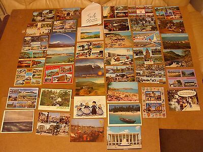 Job Lot Mix Of 40 Different Old Uk & Foreign Postcards 35 Posted With Stamps S4