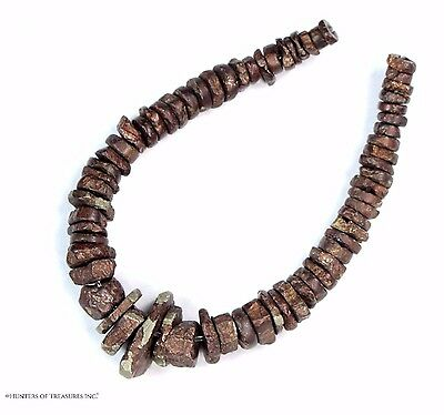 28) 65 Ancient Pre Columbian Scarce Pyrite Metal Beads