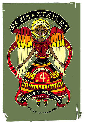 Scrojo Mavis Staples Charlie Musselwhite Belly Up Tavern Poster Mavis_1011