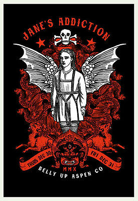 Scrojo Jane's Addiction Belly Up Aspen Colorado 2010 Poster Jane3_1012