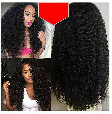Curly Wavy Front Lace Wigs Women's Wig  Full Head Wig Synthetic Hair Black Wigs